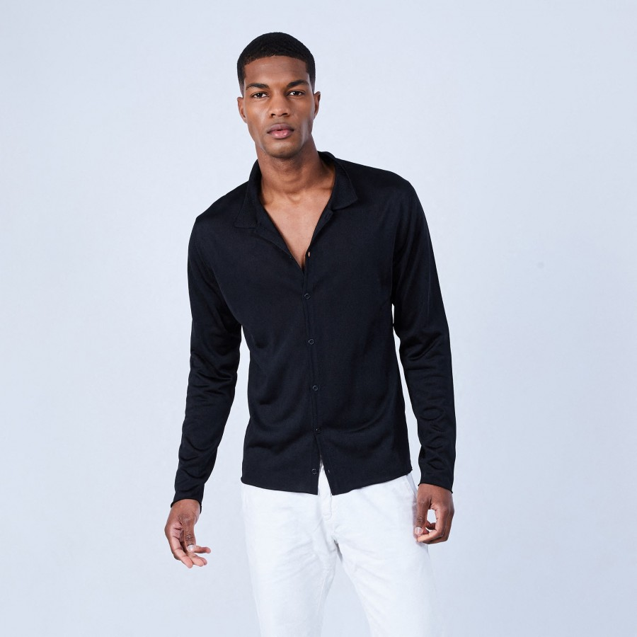 Long-sleeved shirt in Fil Lumière - LAZAR