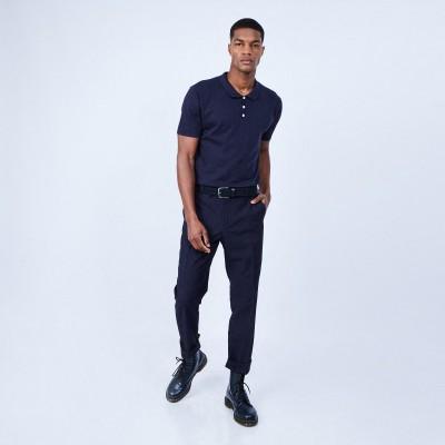 Cotton and silk polo shirt - LENNY
