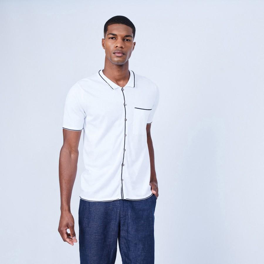 Chemise manches courtes - Lilian 6400 blanc - 02 Blanc