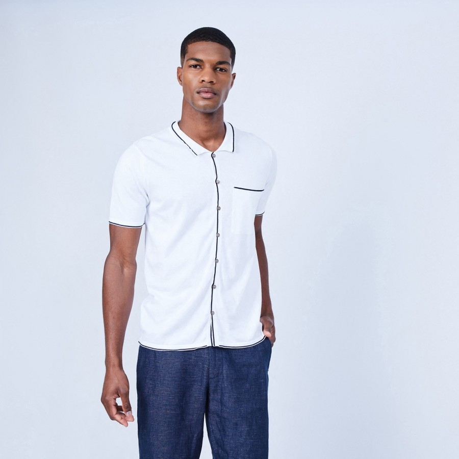Short-sleeved cotton shirt - LILIAN
