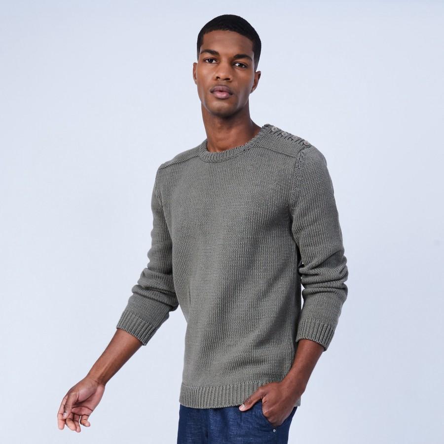 Round-neck cotton jumper - LOTHAIRE