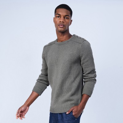 Round-neck cotton jumper - LOTHAIRE