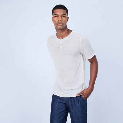 Button-neck T-shirt - LEONCE