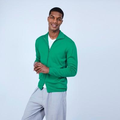 Zipped high-neck merino wool cardigan - LIACRE