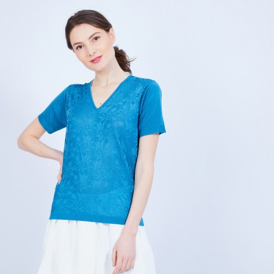 Short-sleeved V-neck T-shirt - Marielle