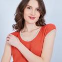 Longue robe cintrée - Meili 6530 Ardent - orange