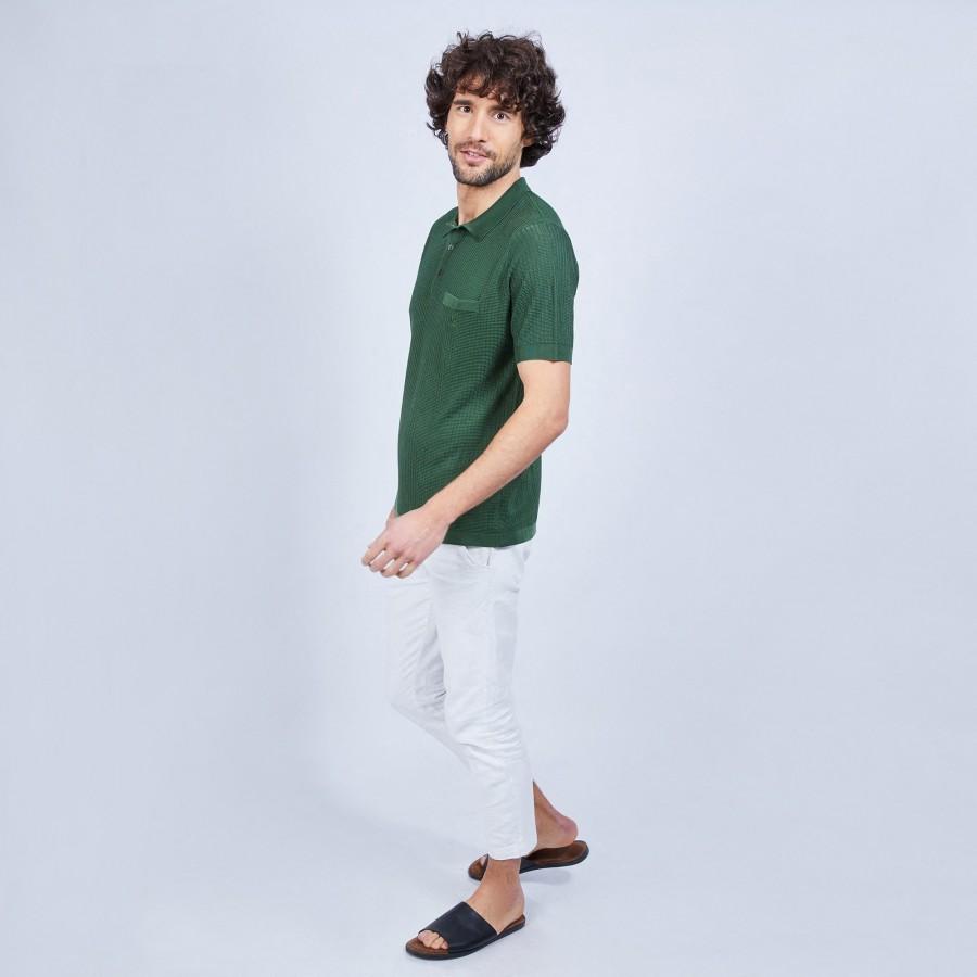 Polo fantaisie en Fil Lumière - Ludovic