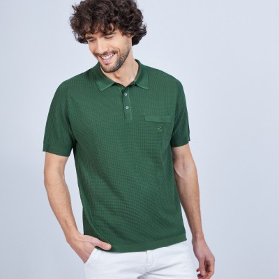 Luxury polo shirt in Fil Lumière - LUDOVIC