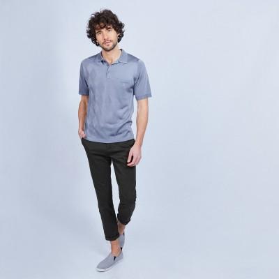 Diamond polo shirt in Fil Lumière - LOUIS