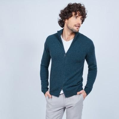 Cashmere zipper waistcoat without pockets Marc-Antoine