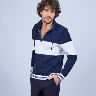 High-neck zip-up jumper - LOIC