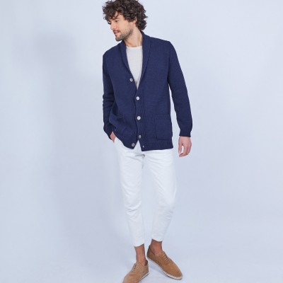 Button-up cotton cardigan - LUCY