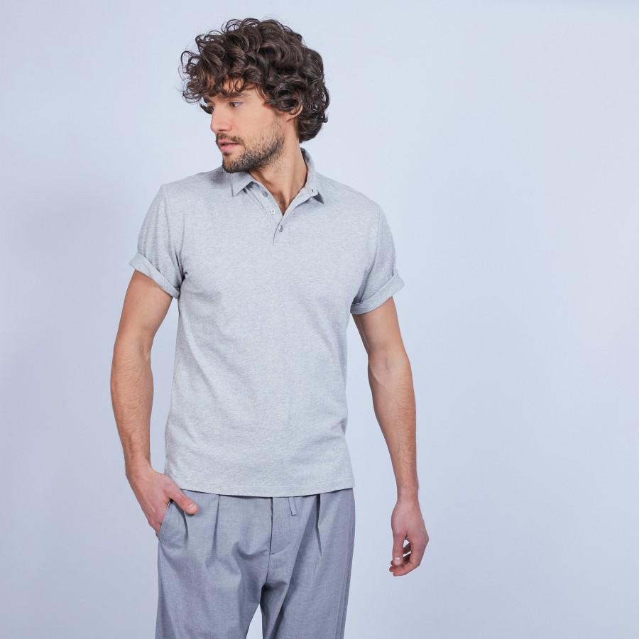 Polo 100% coton - Lys 6411nuage - 11 Gris clair