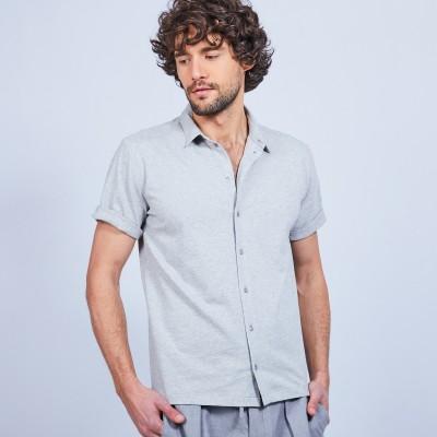 Chemise manches courtes en coton - Laurier