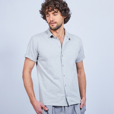 Short-sleeved cotton shirt - LAURIER