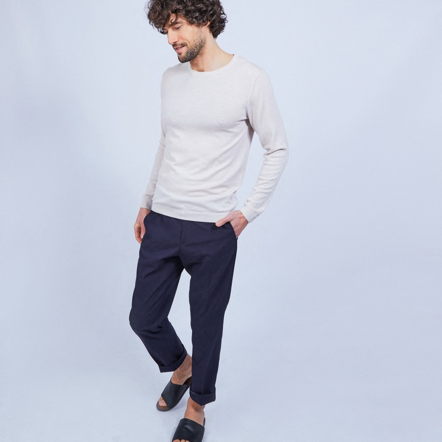 Round-neck wool jumper - LUCIANO