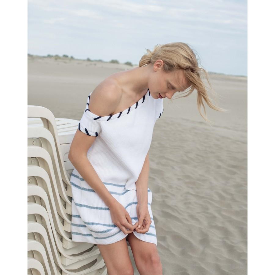 Robe en coton - Jessie 6559 blanc mistral