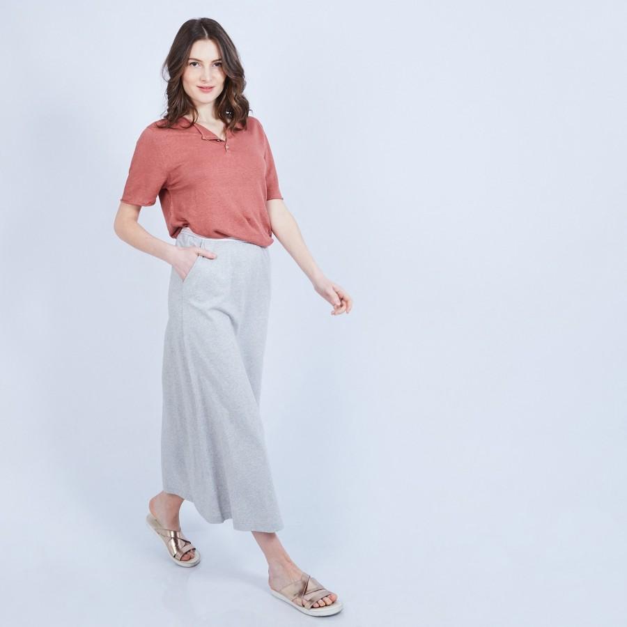 Jupe longue en coton - Magnolia