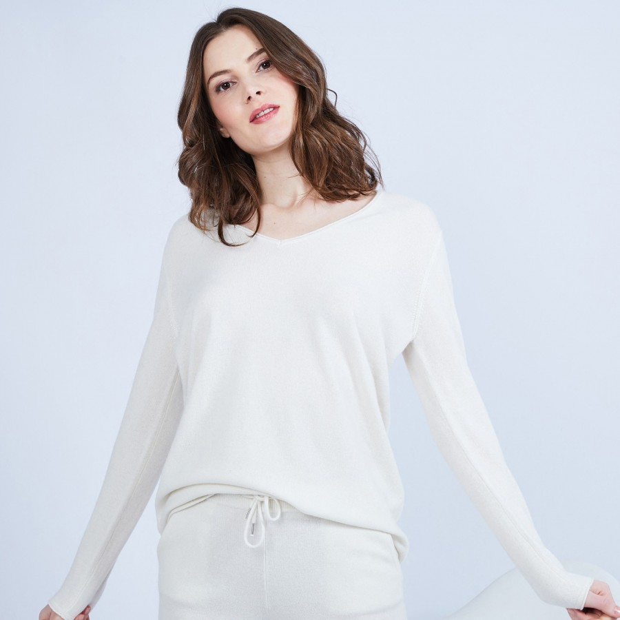 V-neck cashmere jumper – Happy