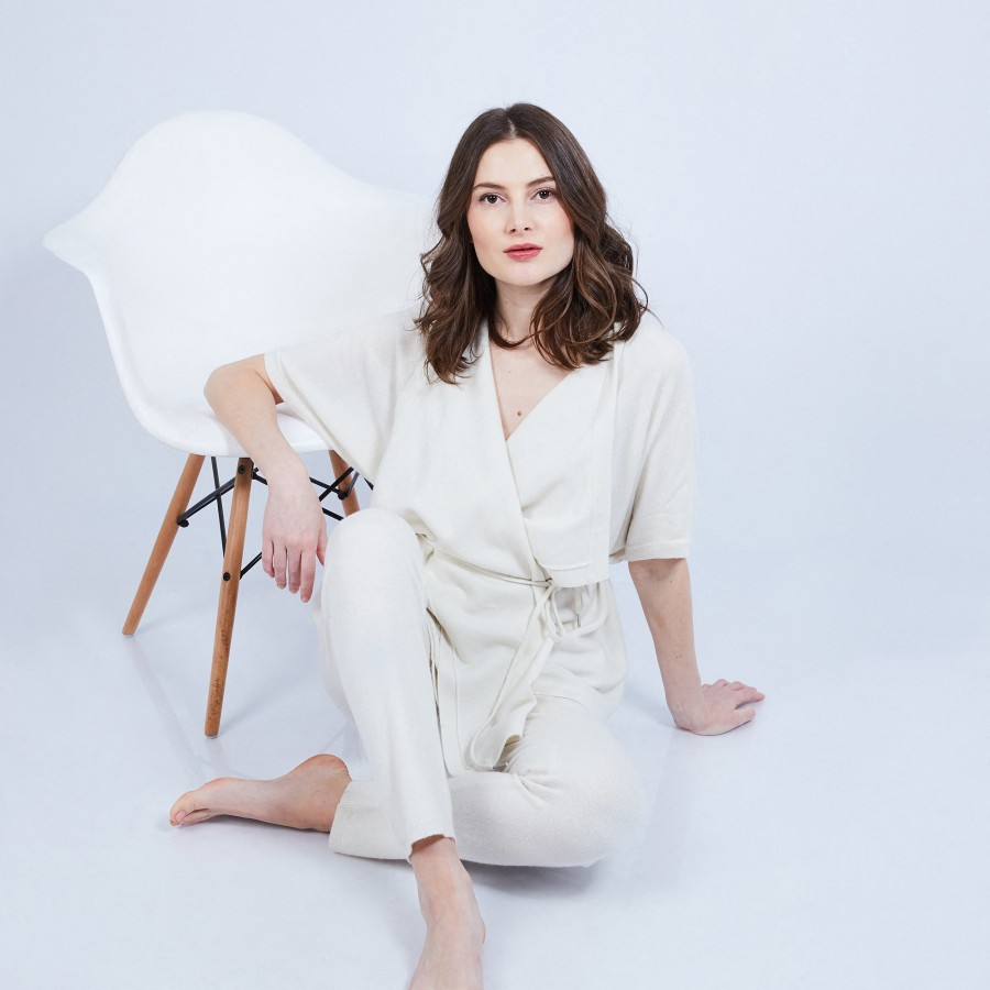 Gilet kimono sans manches - Harriet 6360 Perle - 82 écru