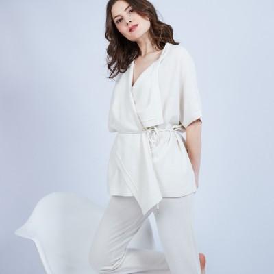 Gilet kimono sans manches - Oumi