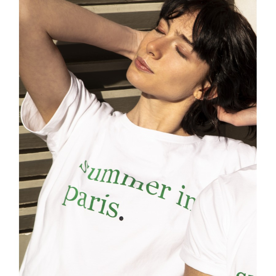 T-shirt femme Maison Montagut x Cuisse de Grenouille 02 blanc