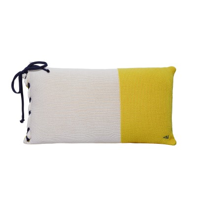 Cushion with organic cotton bow - KANSAS