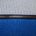 Coussin avec logo en coton bio - Klara 6583 blanc bleuet mimosa - 04 Bleu clair