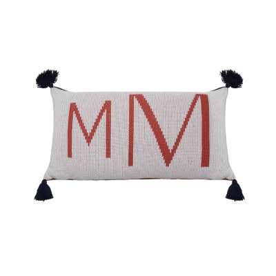 Cushion with organic cotton logo - KLARA
