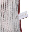 Coussin avec logo en coton bio - Klara 6584 blanc terra marine - 46 Marron clair