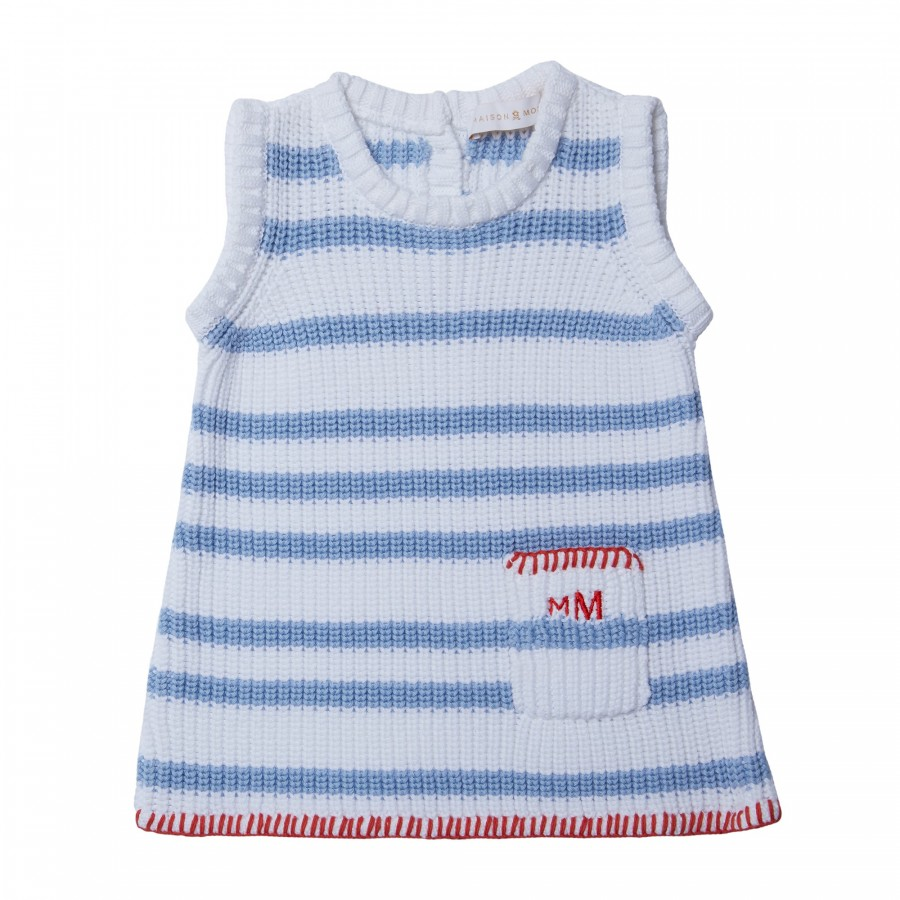 Baby dress in 100% cotton - KLAXON