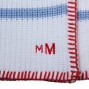 Plaid pour bébé en 100% coton - Koala 6559 blanc mistral - 02 Blanc