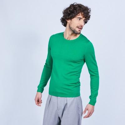 Round-neck wool jumper - LUCIANO