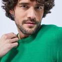 Pull col rond en laine - Luciano 6450 tropique - 22 Vert moyen