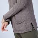 Pull en laine et soie poche avant - Bajira 6620 greige - 11 Gris clair
