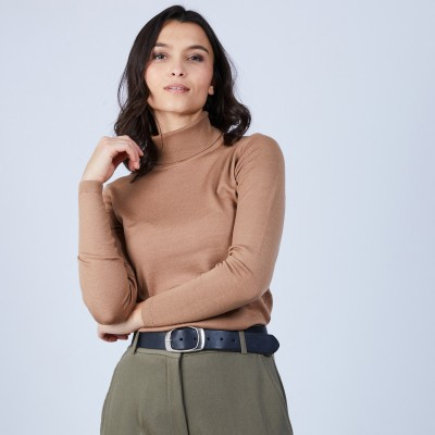 Roll-neck jumper in merino wool - Bea