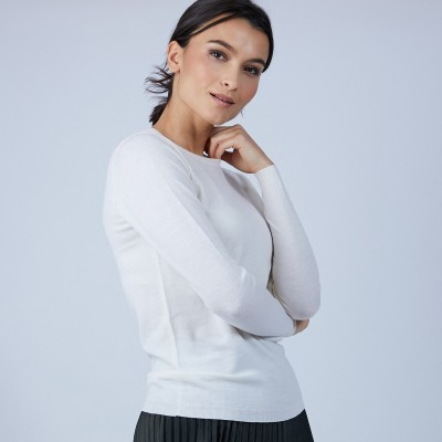 Round-neck jumper in merino wool - Berenice