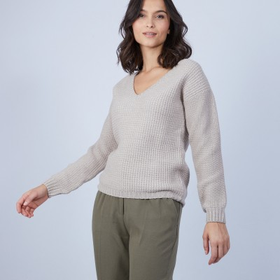 Women's V-neck jumper - Soizic