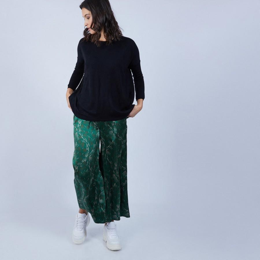 Pantalon en soie Maison Martin Morel 6749 - 21 vert foncé