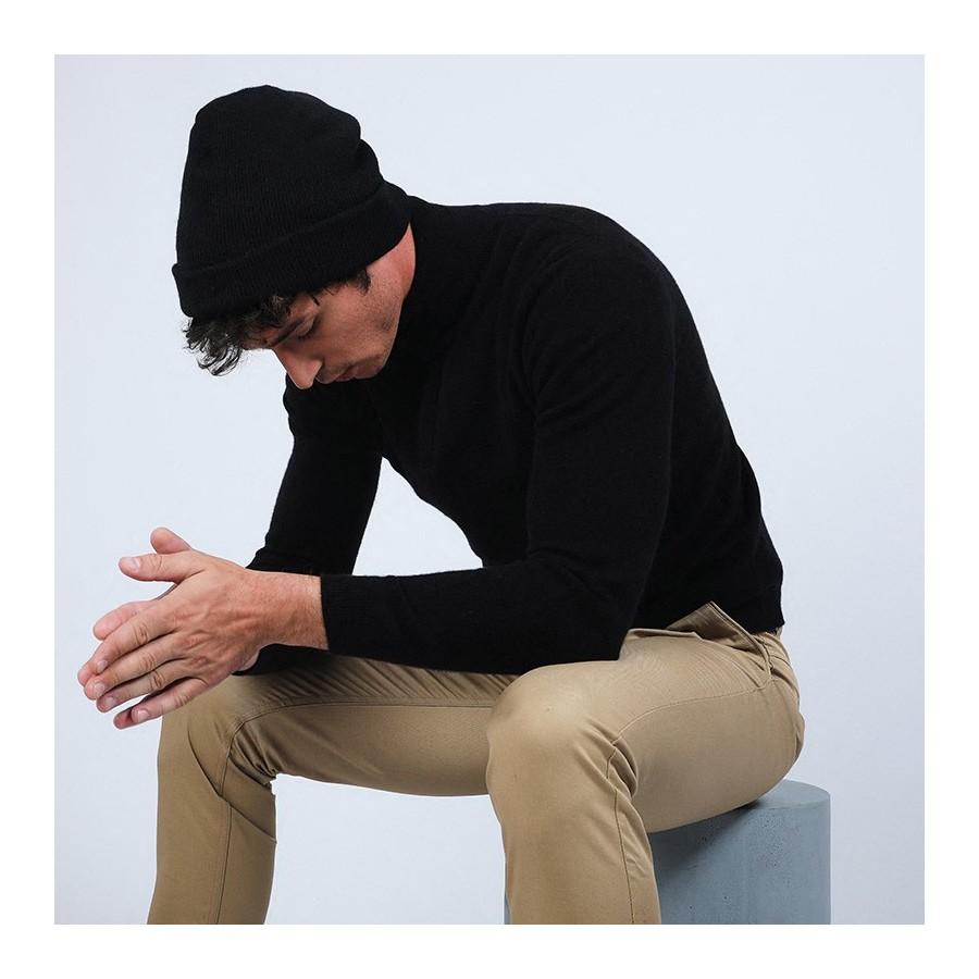 Bonnet en cachemire - Oly 6610 noir - 01 Noir