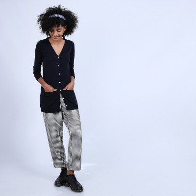 Long cardigan made of merino wool - Bastienne