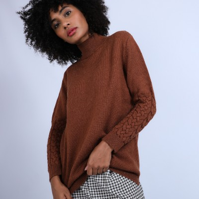 Jumper with cabled sleeves - Paloma