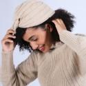 Bonnet turban en laine & alpaga - Samuel 6620 greige - 13 Beige moyen
