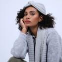 Bonnet turban en laine & alpaga - Samuel 6612 gris clair - 11 Gris clair