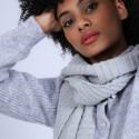 Echarpe en laine & alpaga - Sanela 6612 gris clair - 11 Gris clair