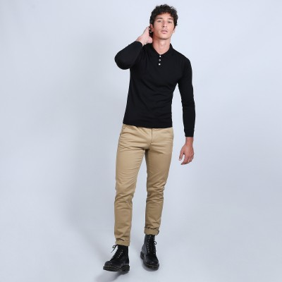 Jumper in wool and silk with polo shirt collar - Bartev