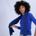 Echarpe en laine & alpaga - Sanela 6644 iris - 48 Bleu roi