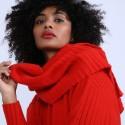 Echarpe en laine & alpaga - Sanela 6680 ecarlate - 52 Rouge