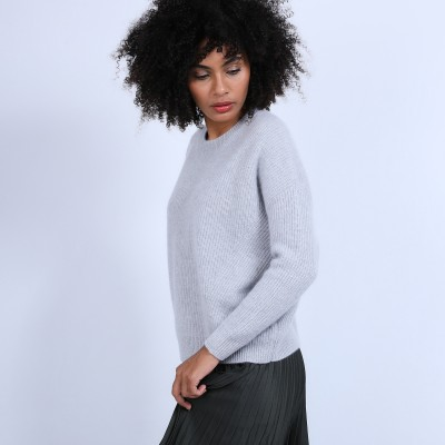 Ball jumper in ribbed cashmere - Sauna