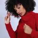 Pull oversize à lacet - Semya 6680 ecarlate - 52 Rouge